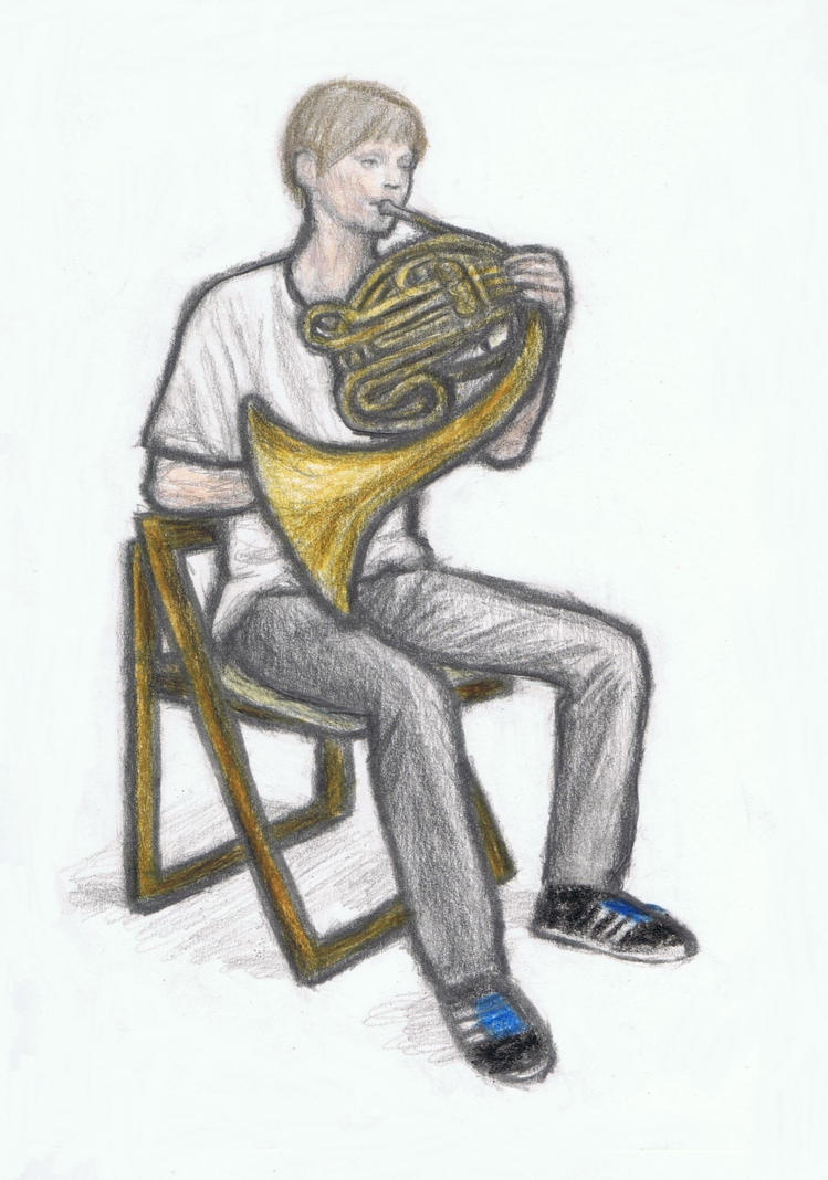 Mingus Reedus on french horn by gagambo