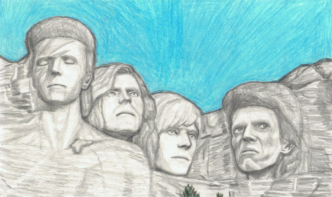 David Bowie on Mt Rushmore by gagambo