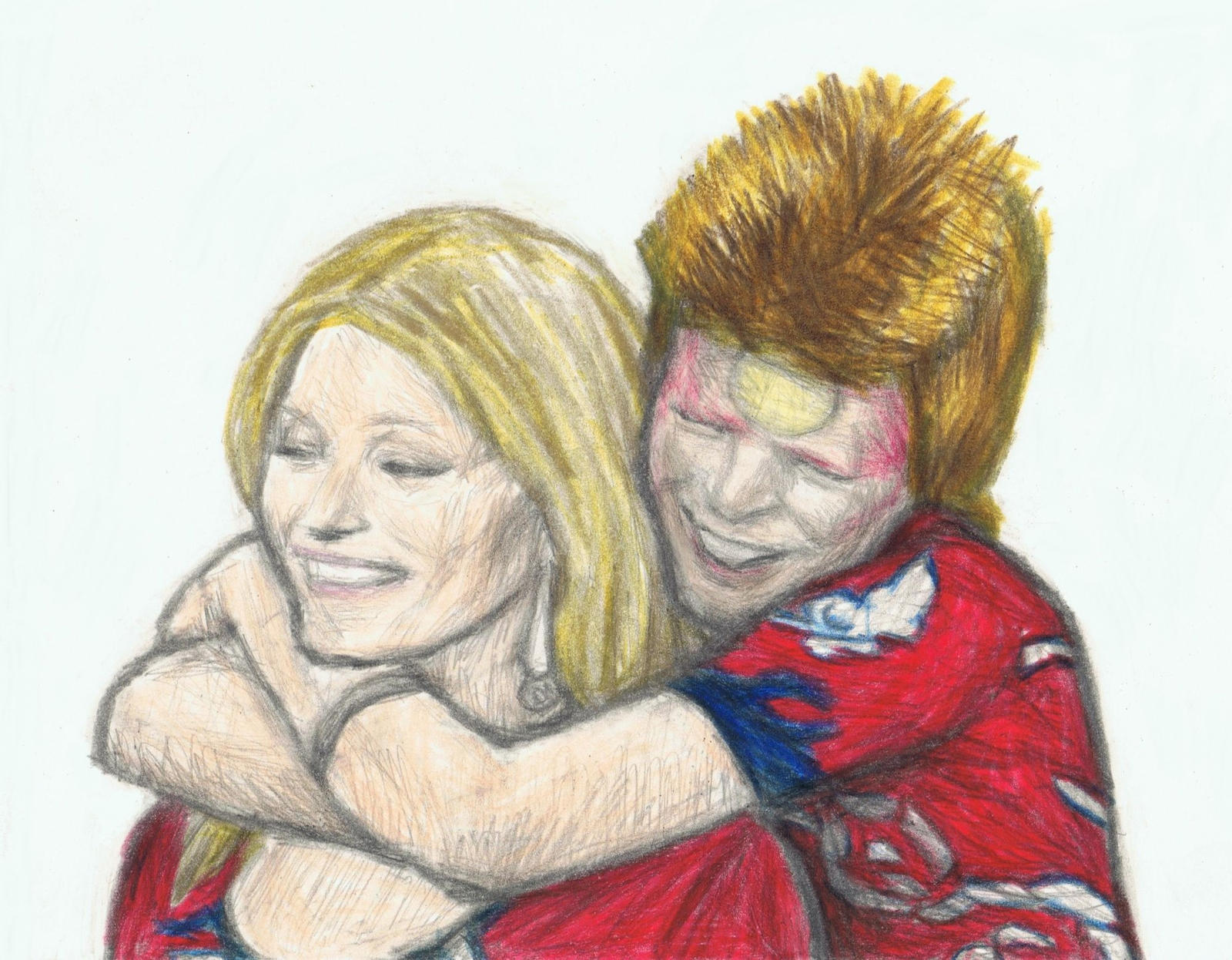 Ziggy Stardust loves Kate Moss by gagambo