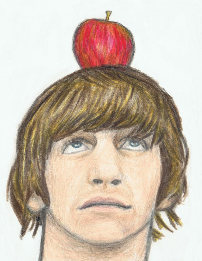 Ringo Starr with an apple on his head by gagambo