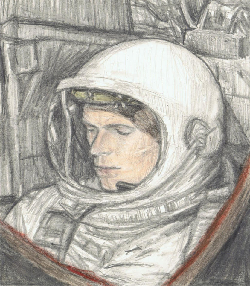 David Bowie as Major Tom by gagambo