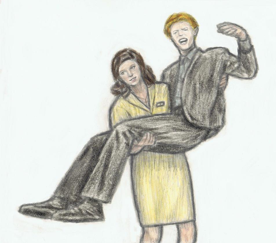 Mary-Lou picking up Thomas Jerome Newton by gagambo