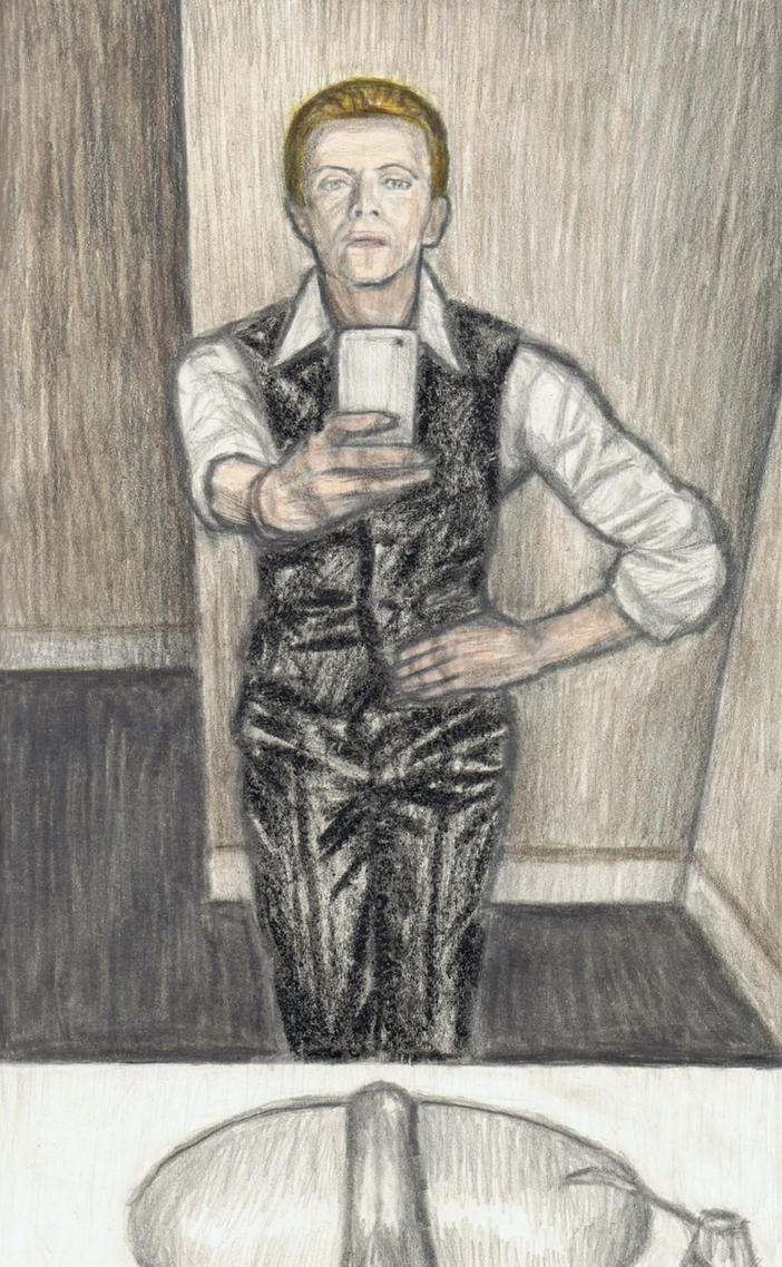 David Bowie in the 70s taking a selfie by gagambo