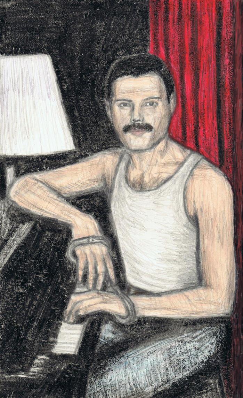 A portrait of Freddie Mercury by gagambo