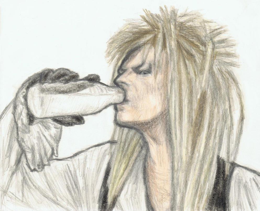 Jareth drinking milk by gagambo