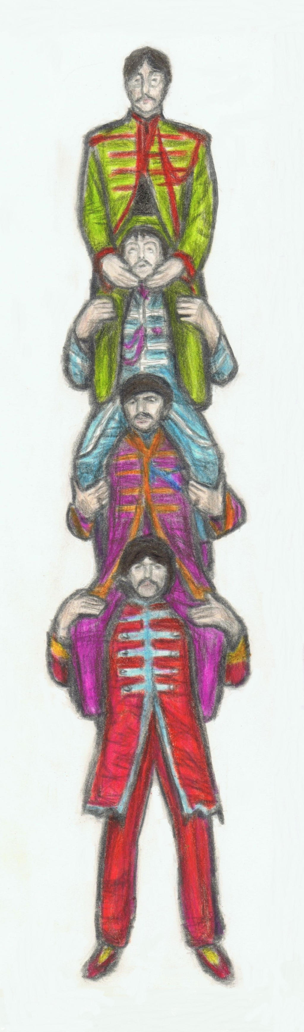 Sgt.Pepper's Lonely Hearts Club Band shoulder ride by gagambo
