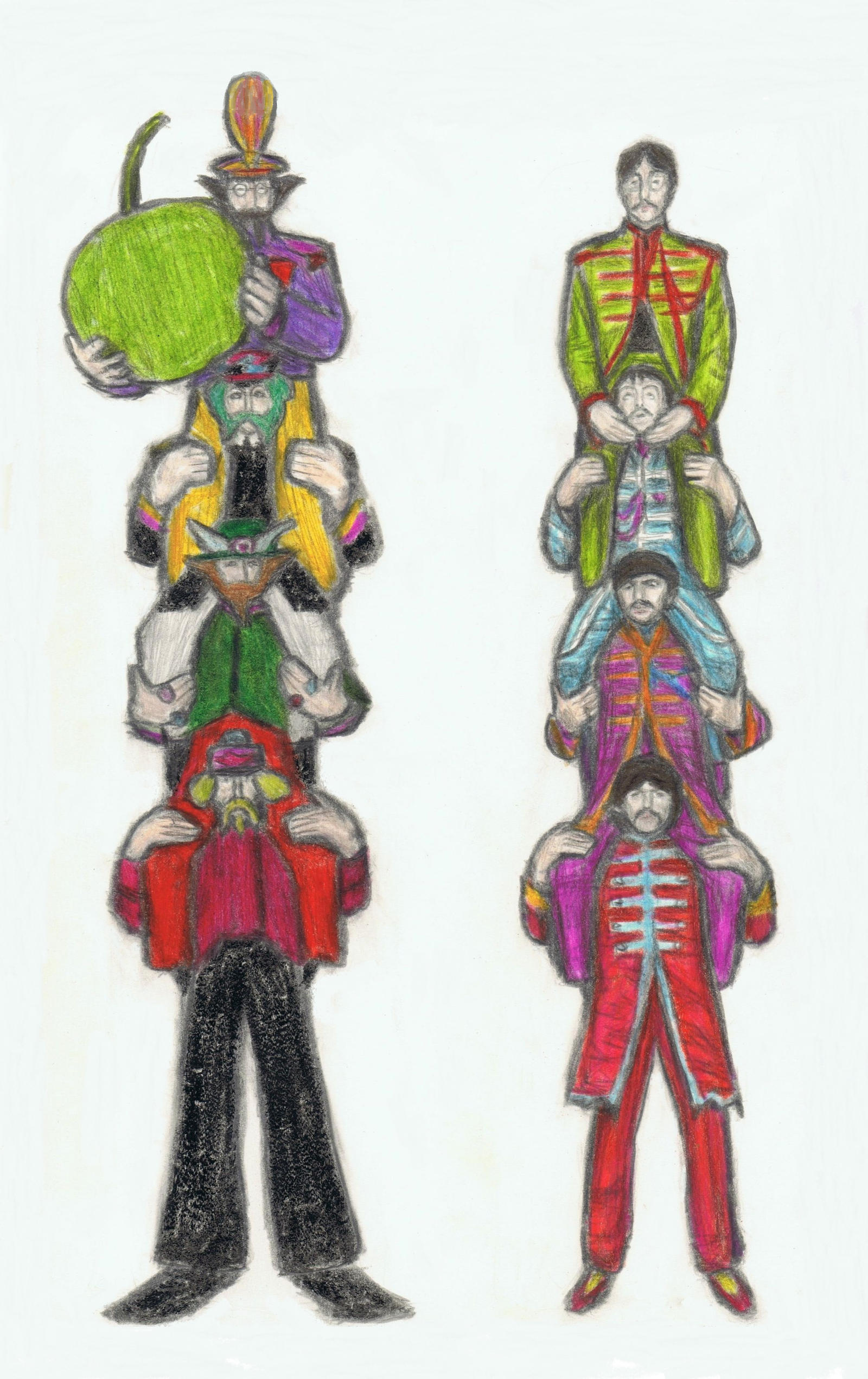 Yellow Submarine vs Sgt.Pepper shoulder ride by gagambo