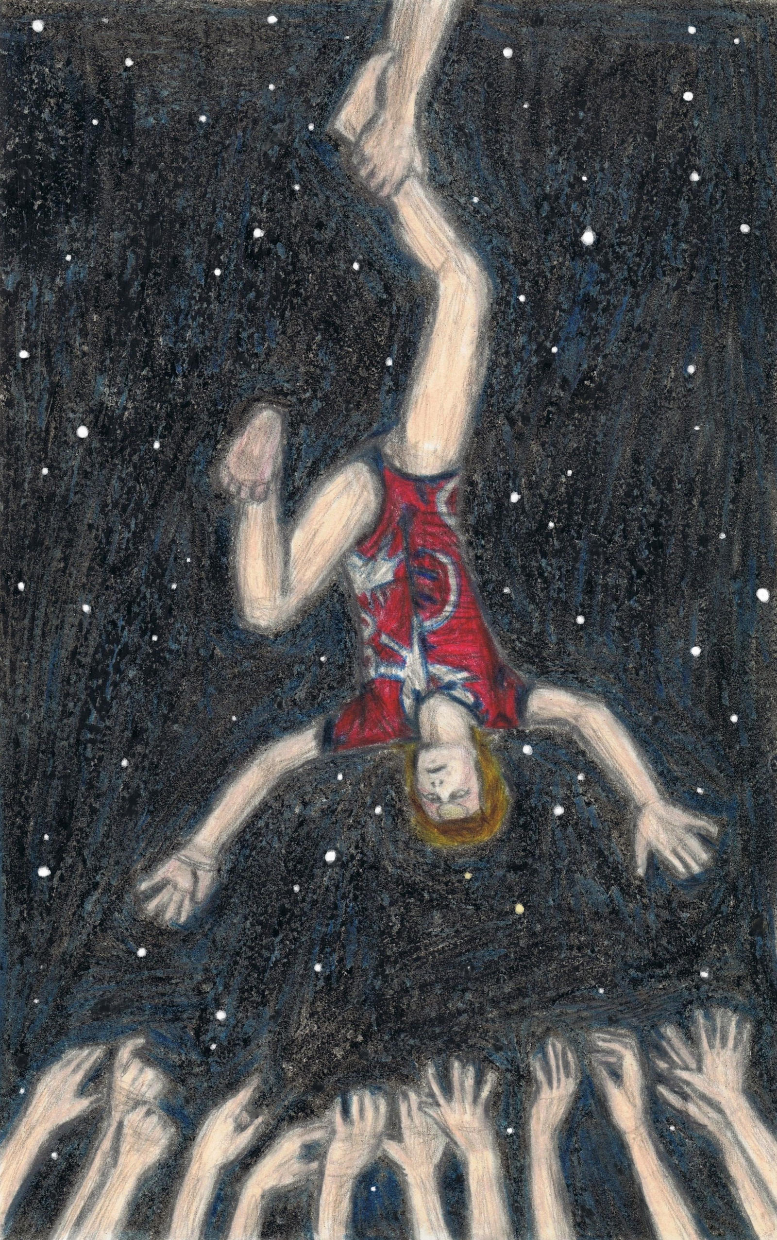 Ziggy Stardust upside down by gagambo