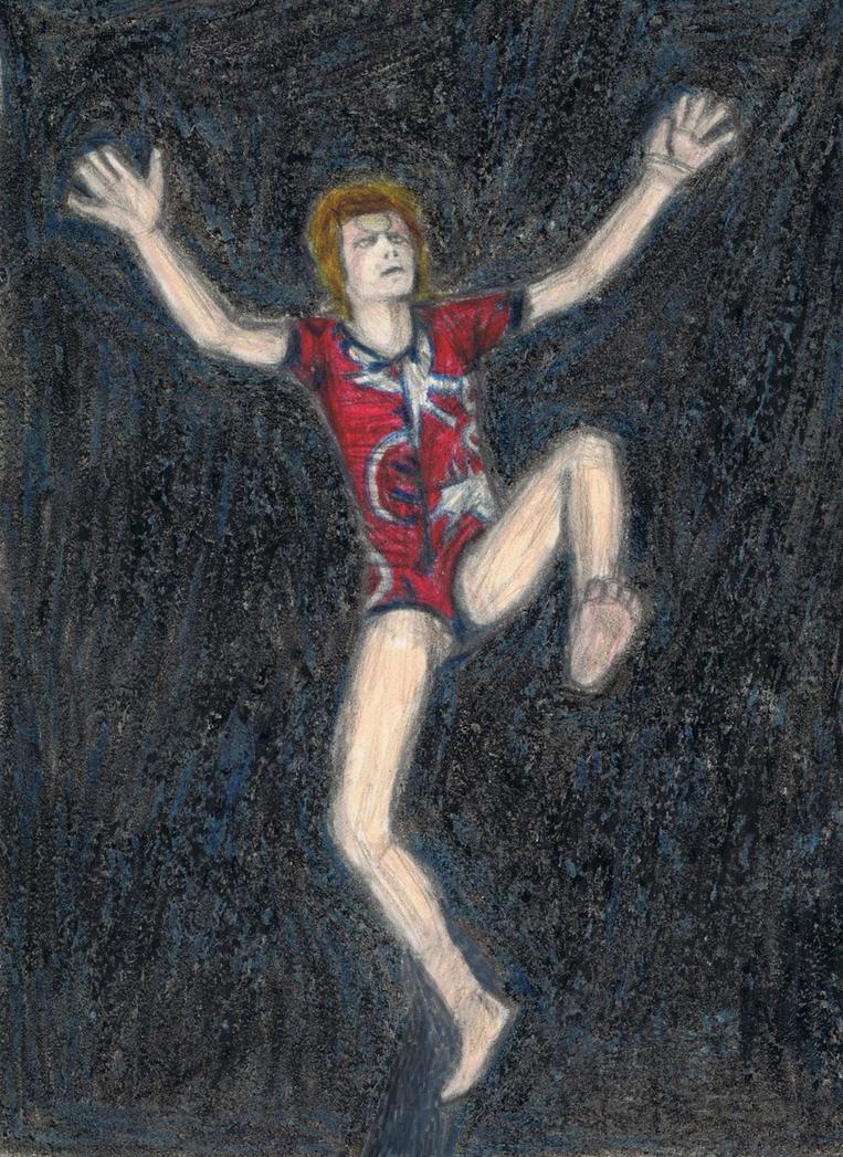 Ziggy Stardust jump by gagambo