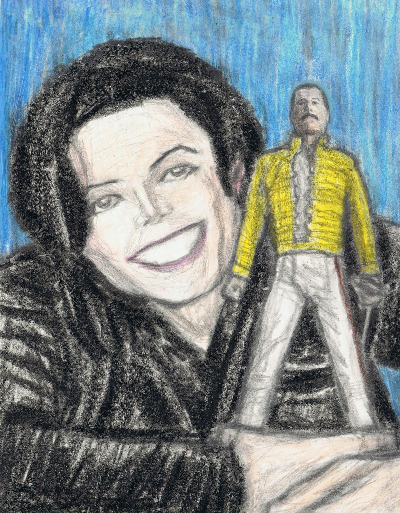 Michael Jackson with Freddie Mercury action figure by gagambo