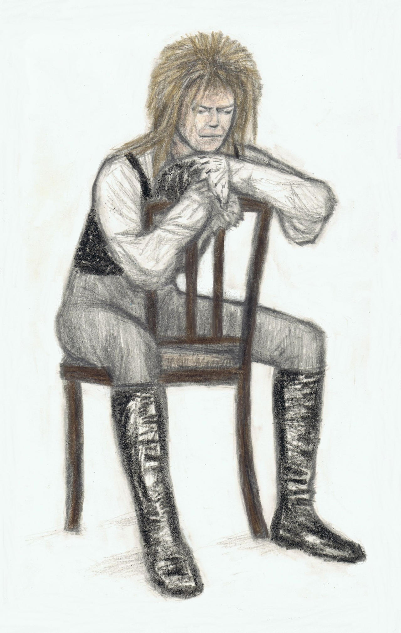 King Jareth sitting on a plain chair by gagambo