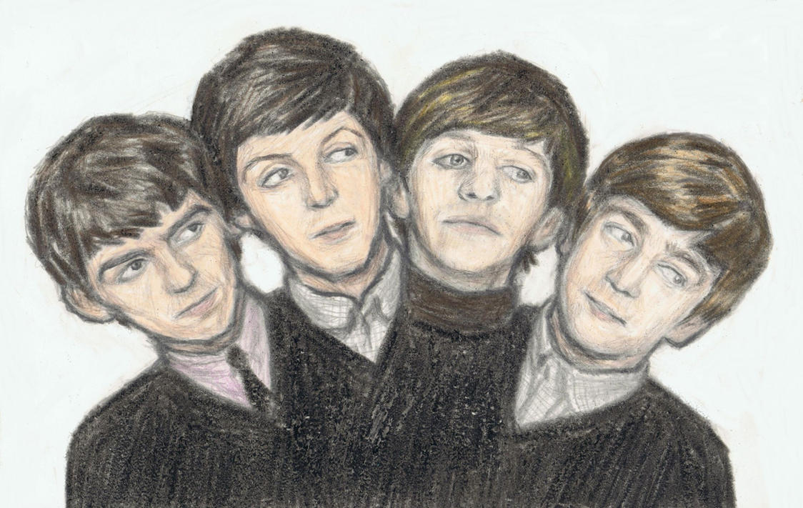 The Beatles - 4 headed monster by gagambo