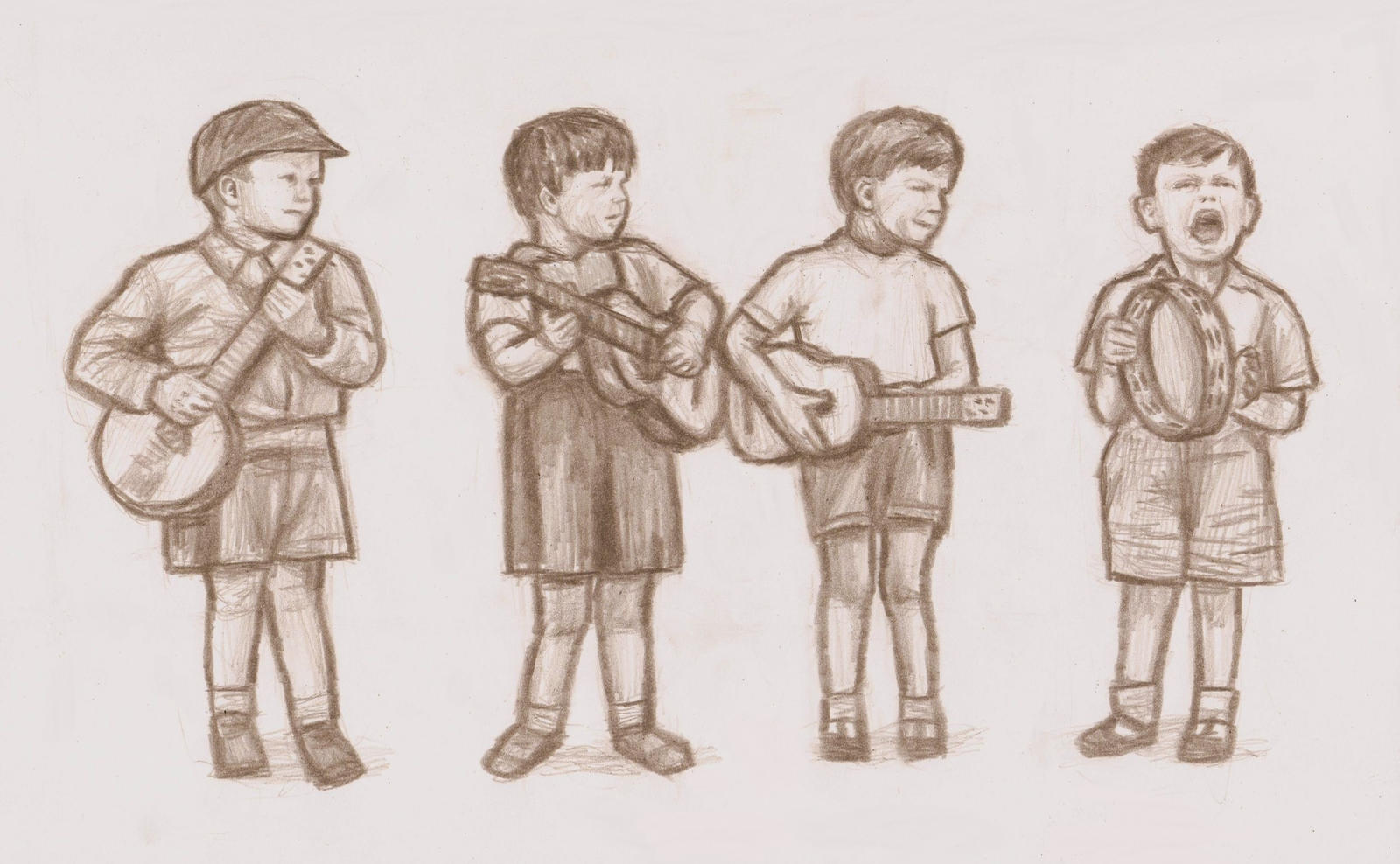 The Beatles as little children by gagambo