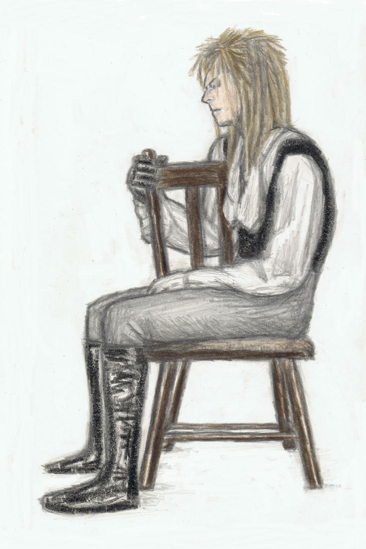 King Jareth sitting on a plain chair 2 by gagambo
