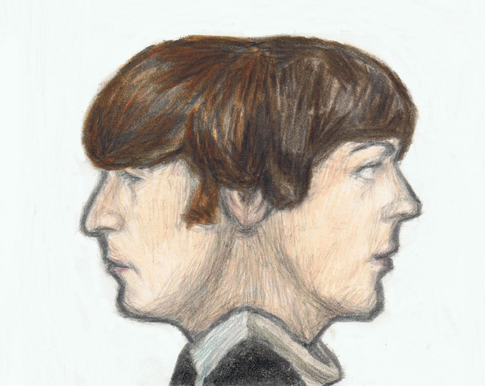 Lennon McCartney head by gagambo