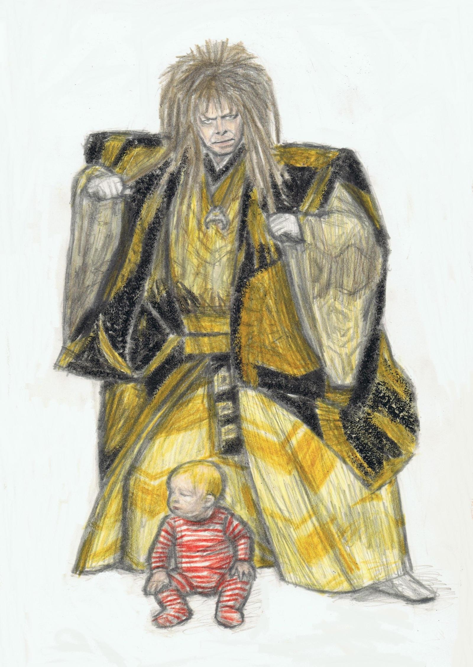 Jareth as a kabuki actor by gagambo