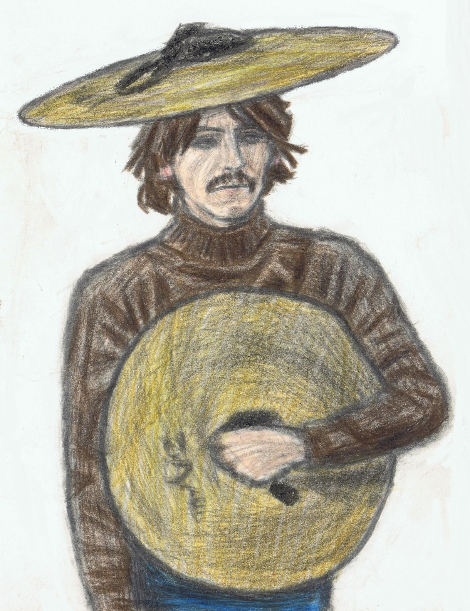 A cymbal hat on George Harrison by gagambo
