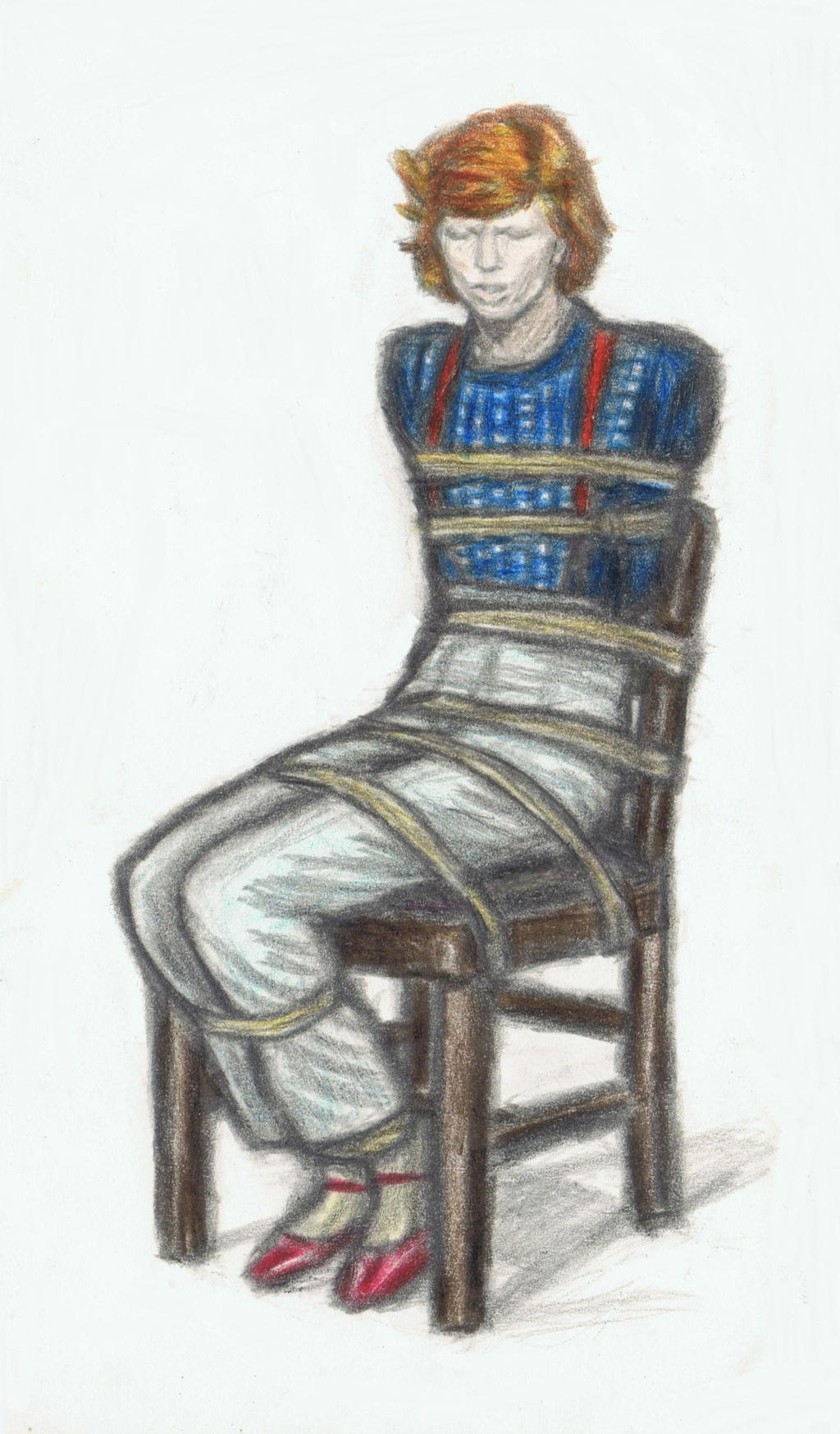 Cracked Actor tied to a chair by gagambo