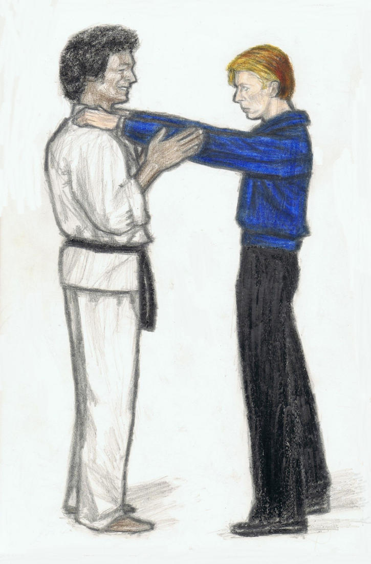 David Bowie taking a karate lesson by gagambo