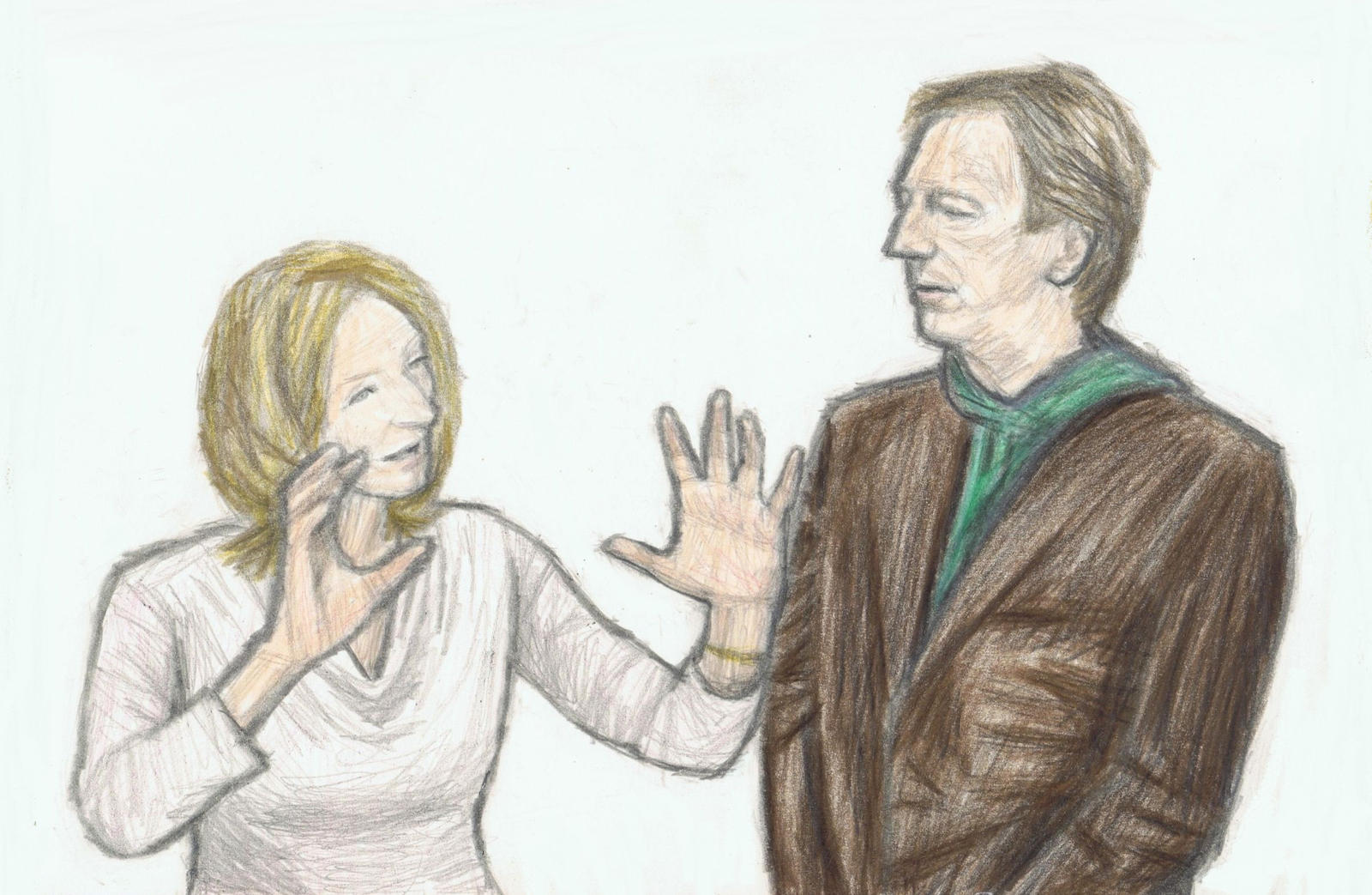 J.K.Rowling talking to Alan Rickman by gagambo