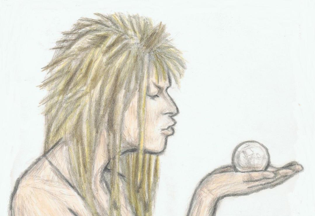 Naked Jareth kisses a crystal by gagambo