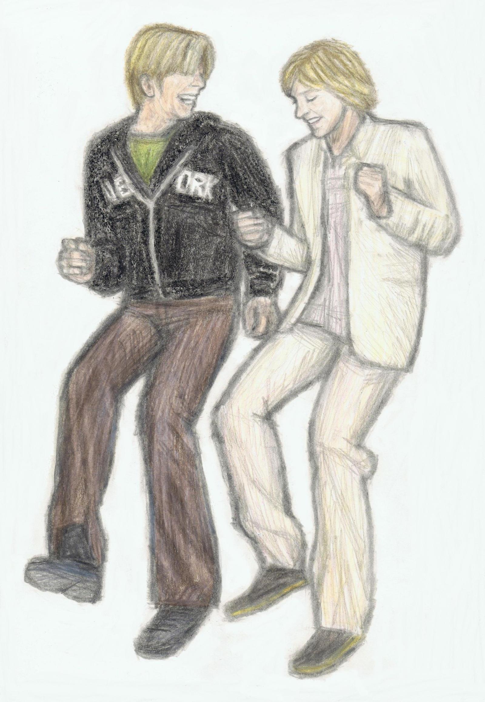 David Bowie and Ellen Degeneres by gagambo