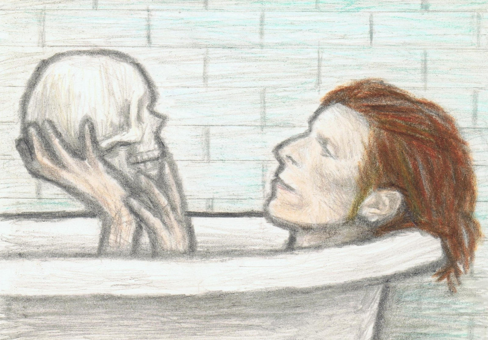 Cracked Actor in a bathtub by gagambo