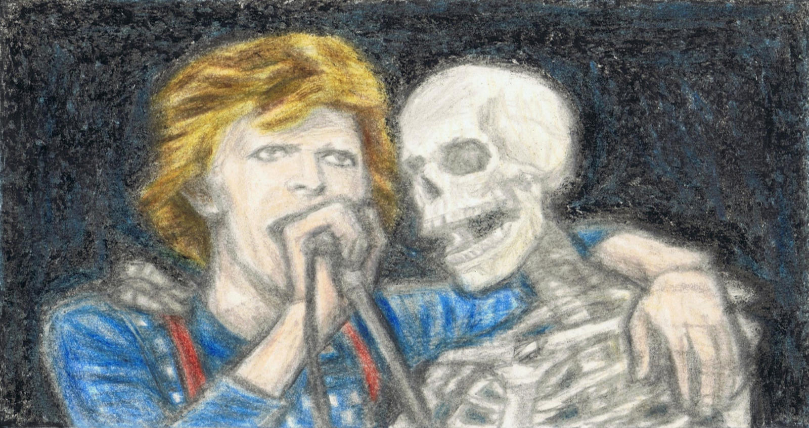 Cracked Actor being in harmony with a skeleton by gagambo