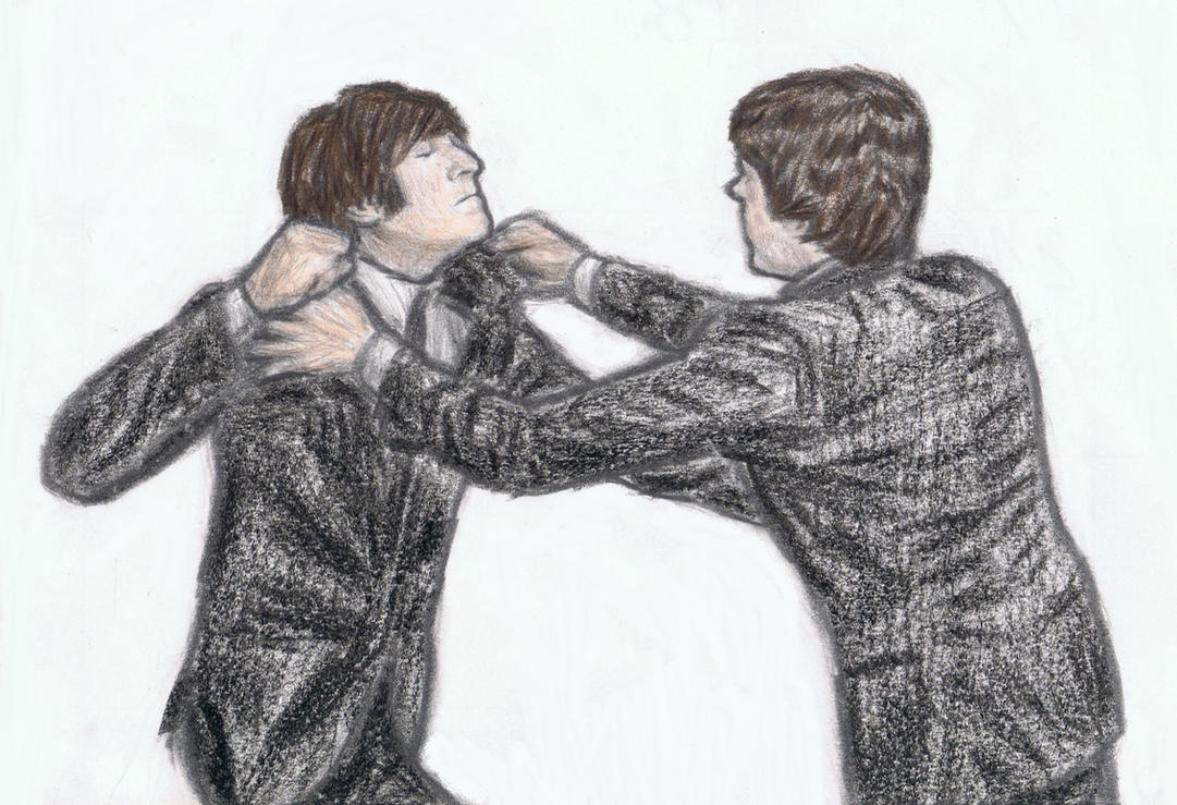 John and Paul fighting by gagambo