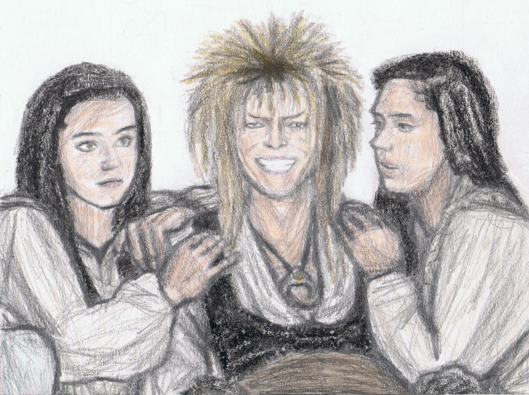 King Jareth with double Sarah by gagambo