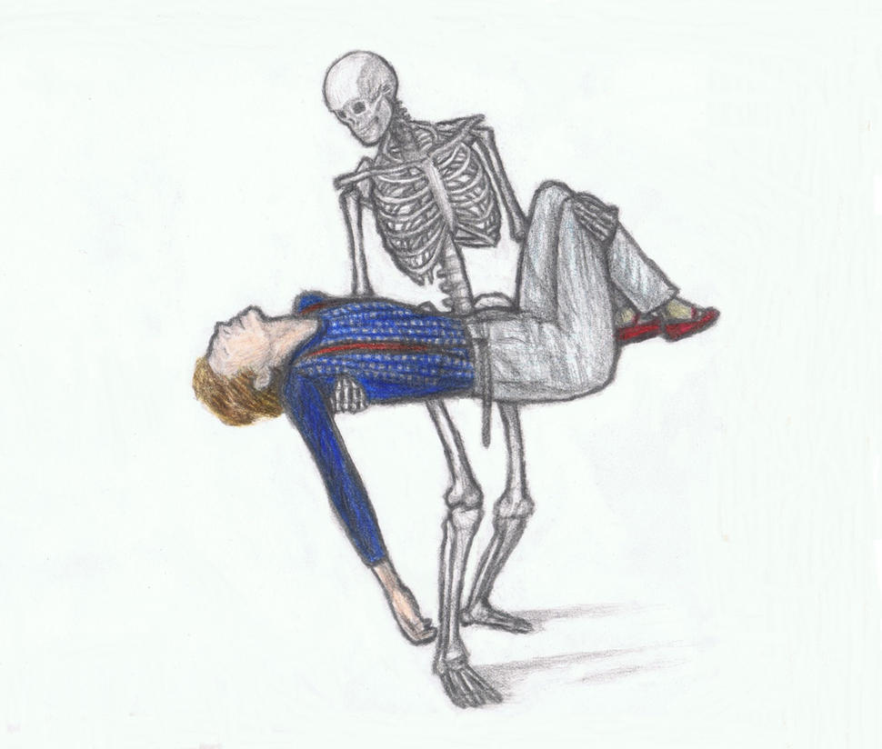 Skeleton carrying Cracked Actor by gagambo