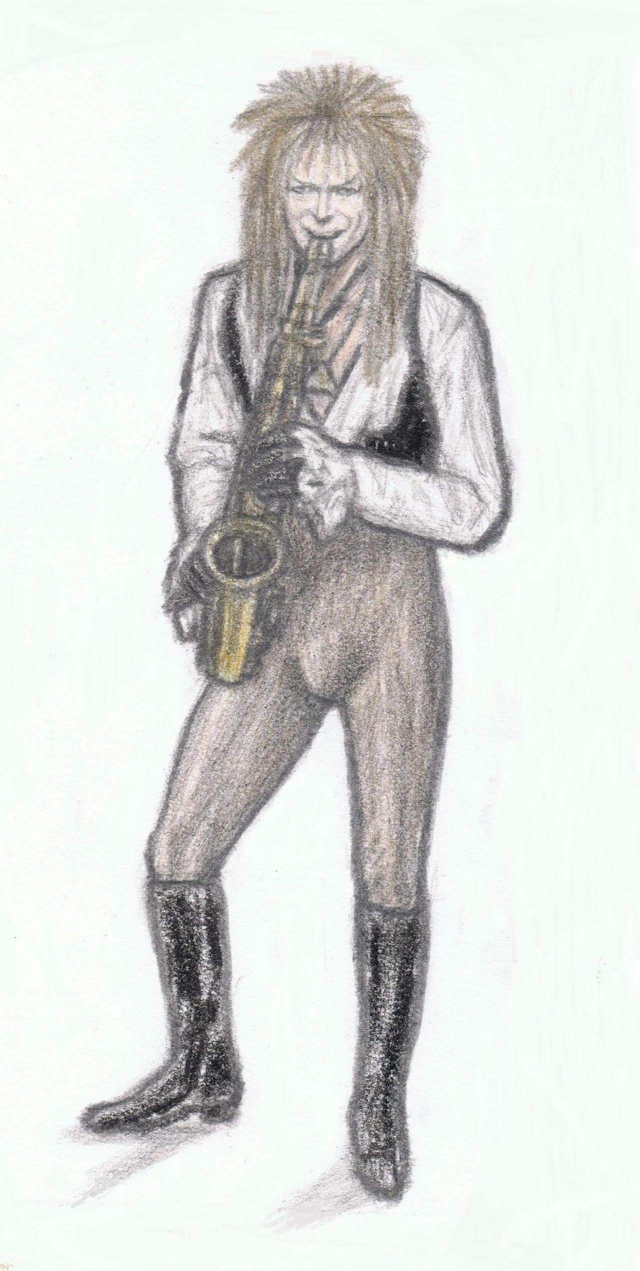 Goblin King playing saxophone by gagambo