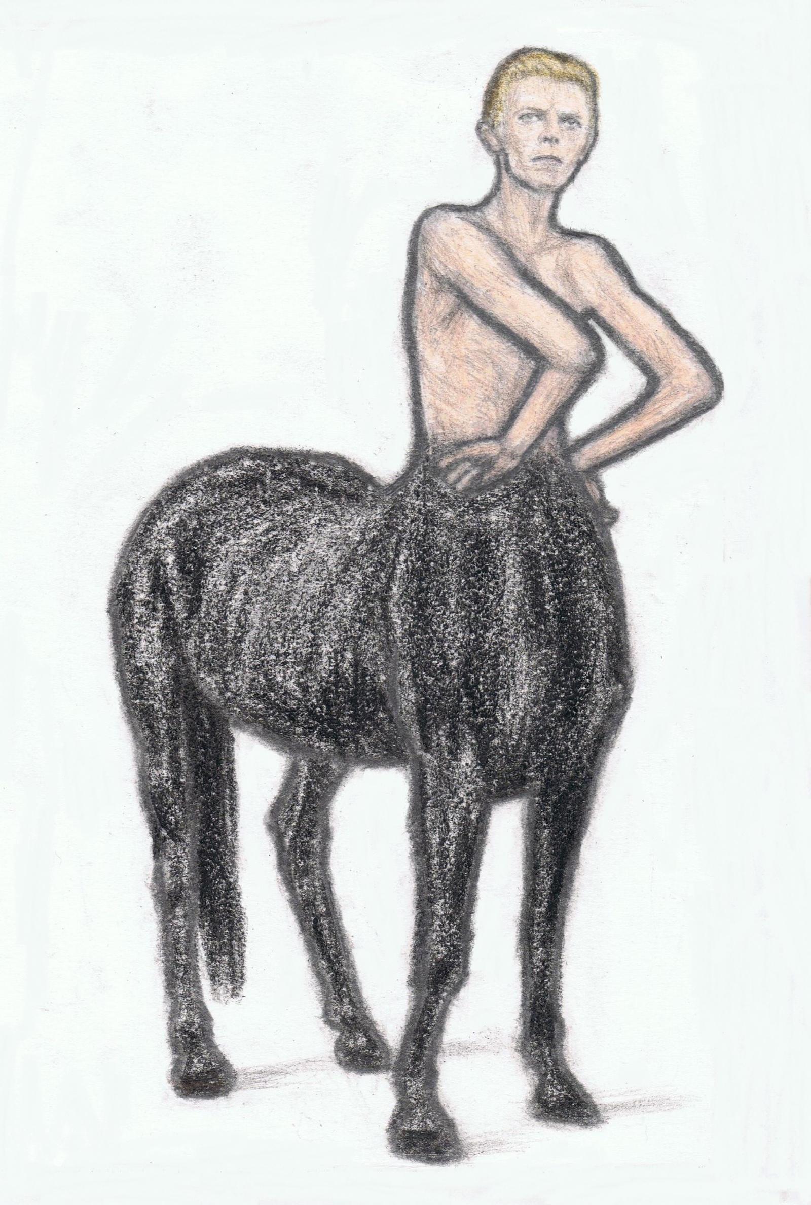 David Bowie as a centaur by gagambo