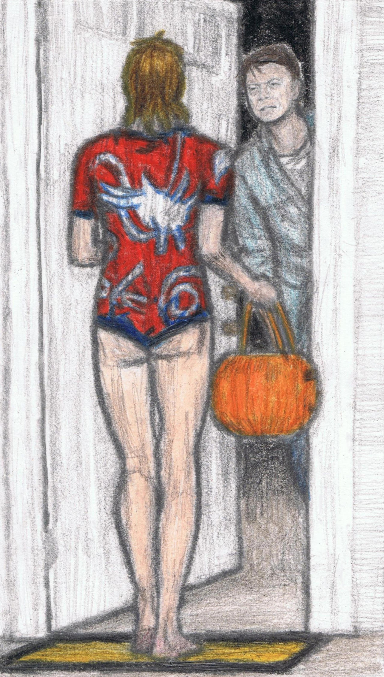 Ziggy Stardust trick-or-treating by gagambo