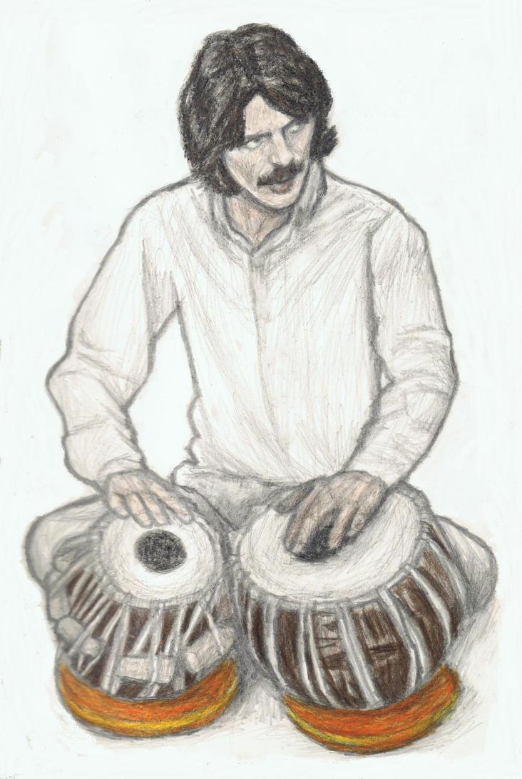 George Harrison on tabla by gagambo