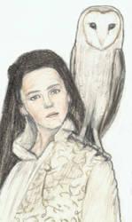 Jareth on Sarah's shoulder by gagambo