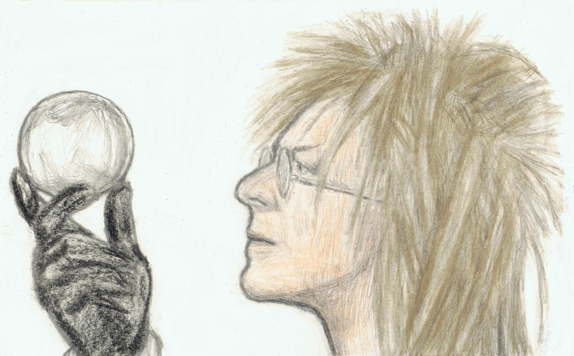 King Jareth with glasses on by gagambo