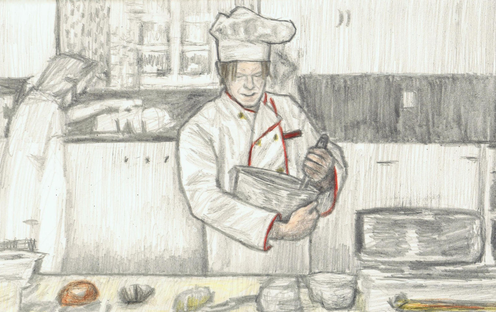 David Bowie as a chef by gagambo