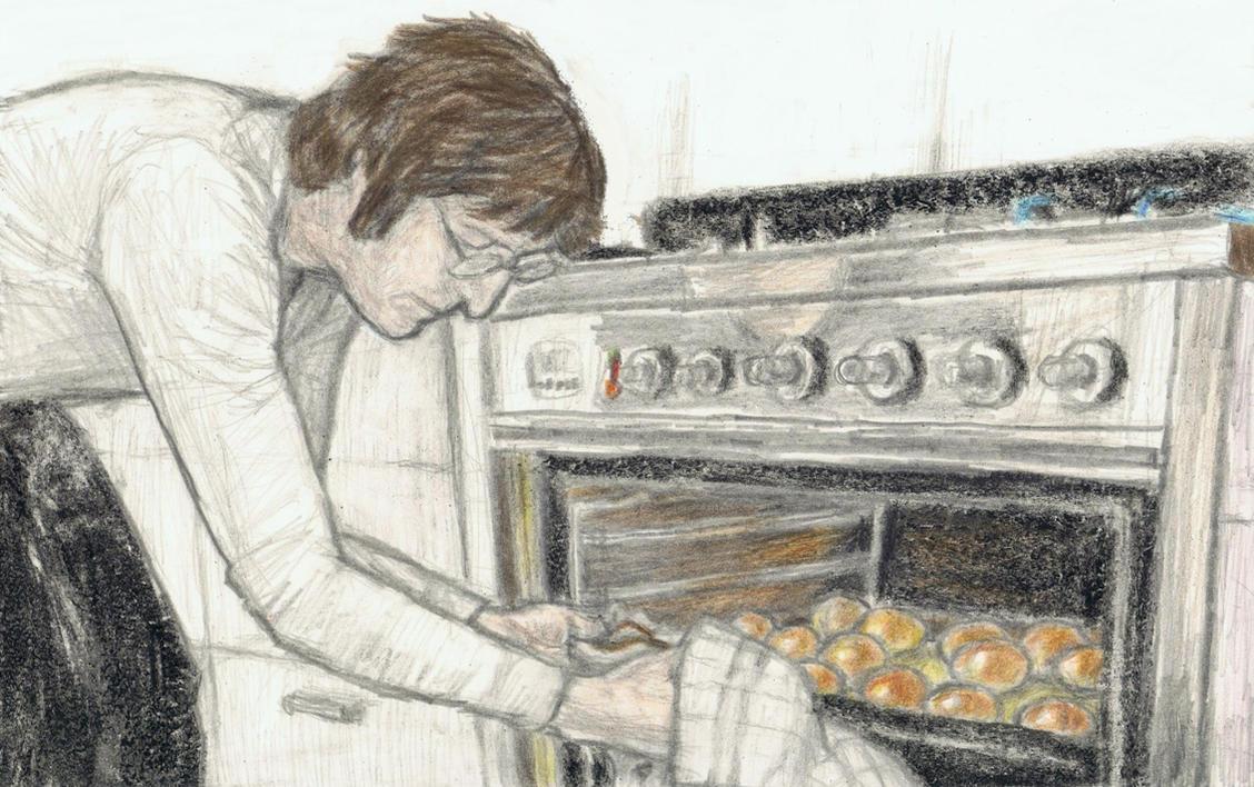 John Lennon baking bread by gagambo
