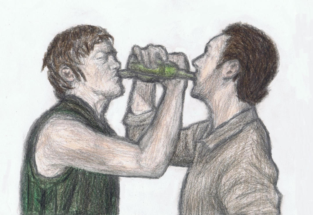 Daryl Dixon and Rick Grimes by gagambo
