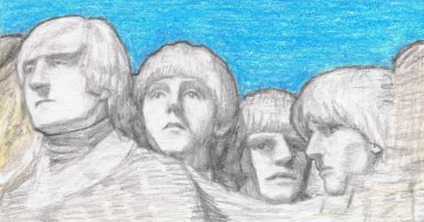 1965 Beatles on Mt Rushmore