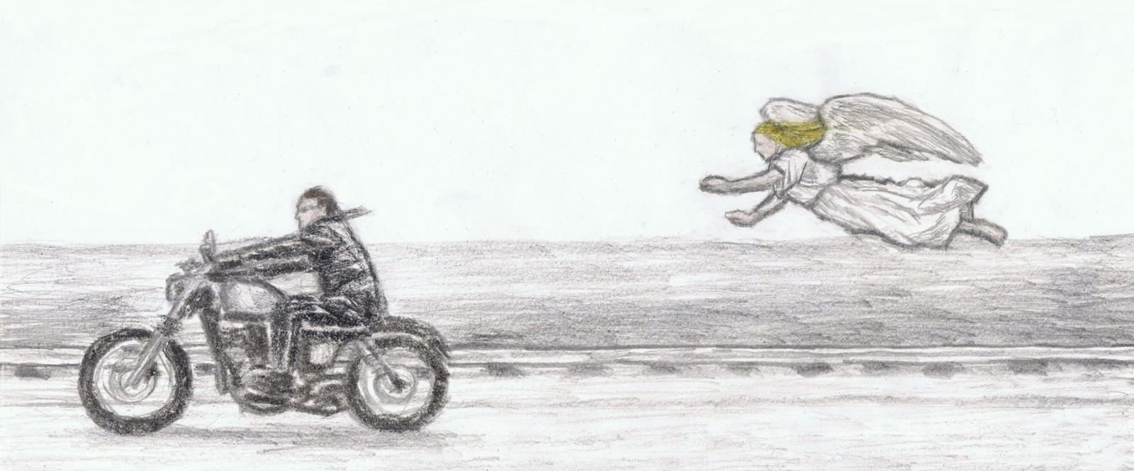 Norman Reedus riding motorcycle by gagambo