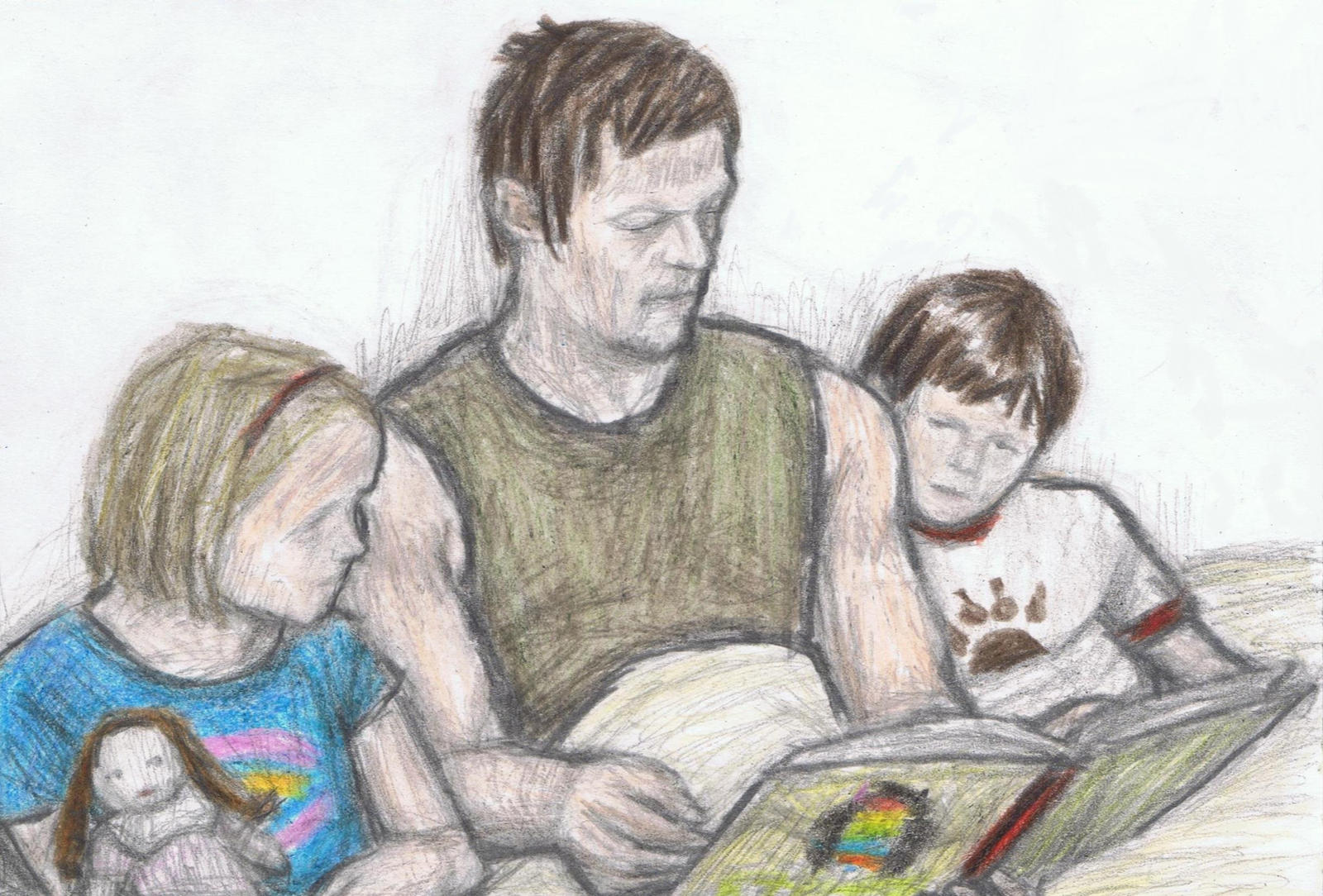 Daryl Dixon's bedtime story by gagambo