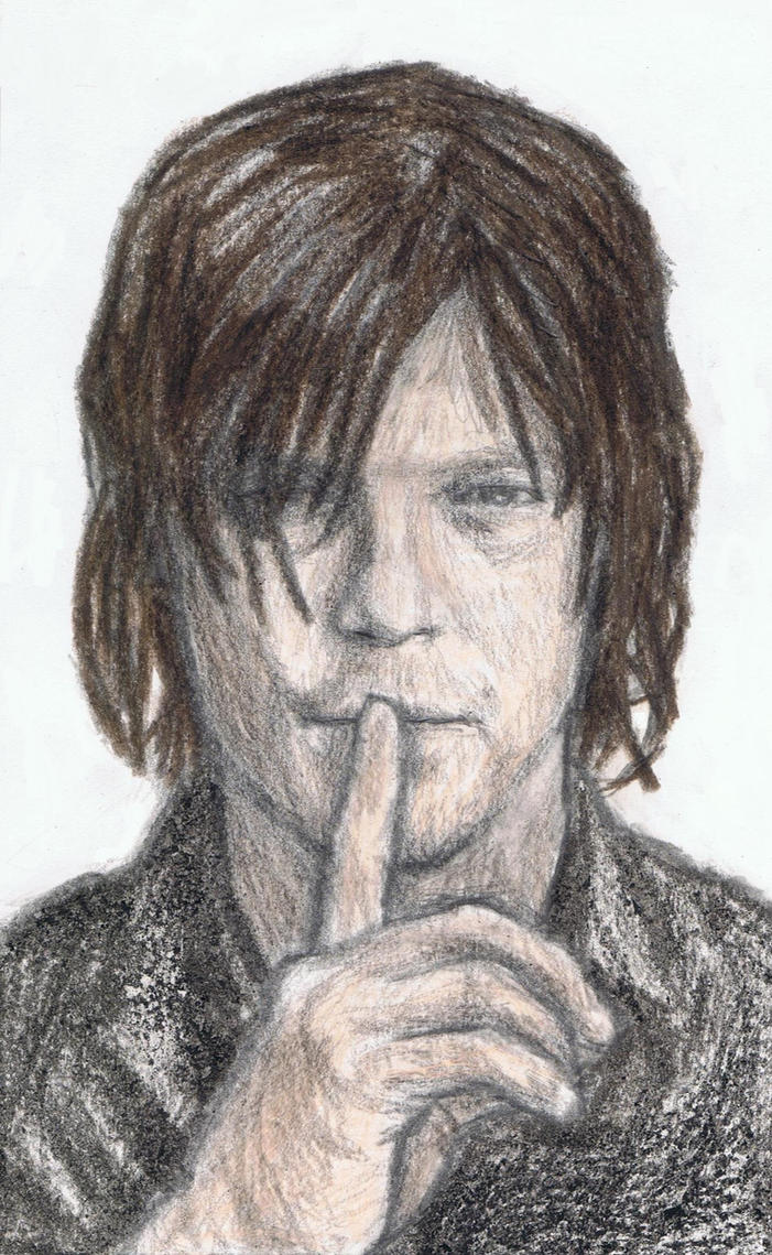 Norman Reedus says shh by gagambo