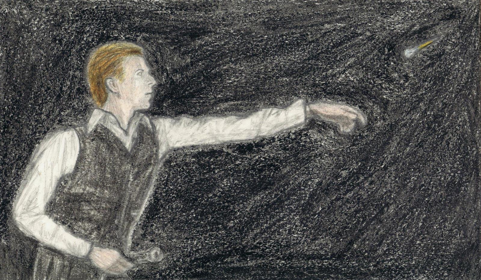 Thin White Duke throwing darts by gagambo
