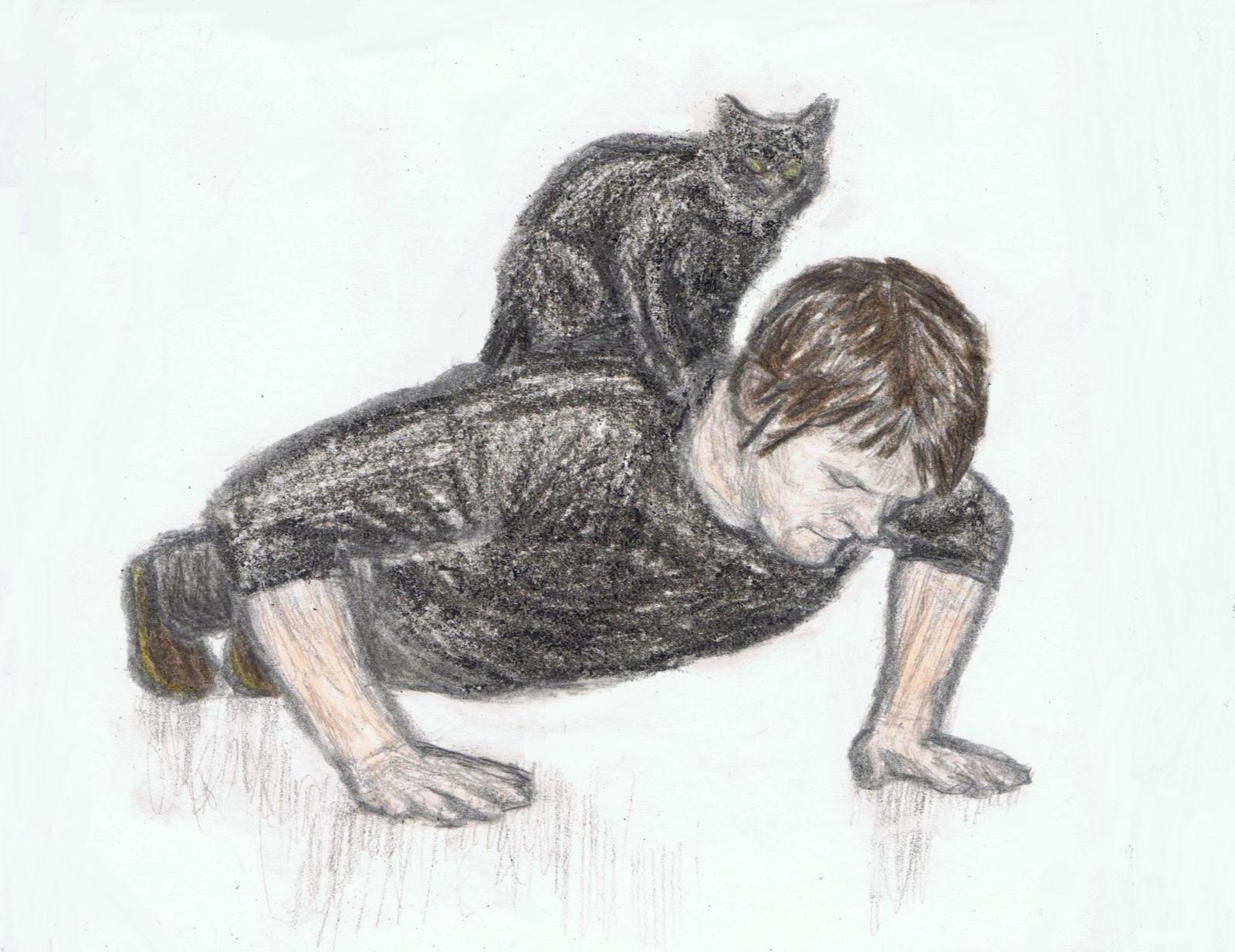 Norman Reedus doing push ups by gagambo