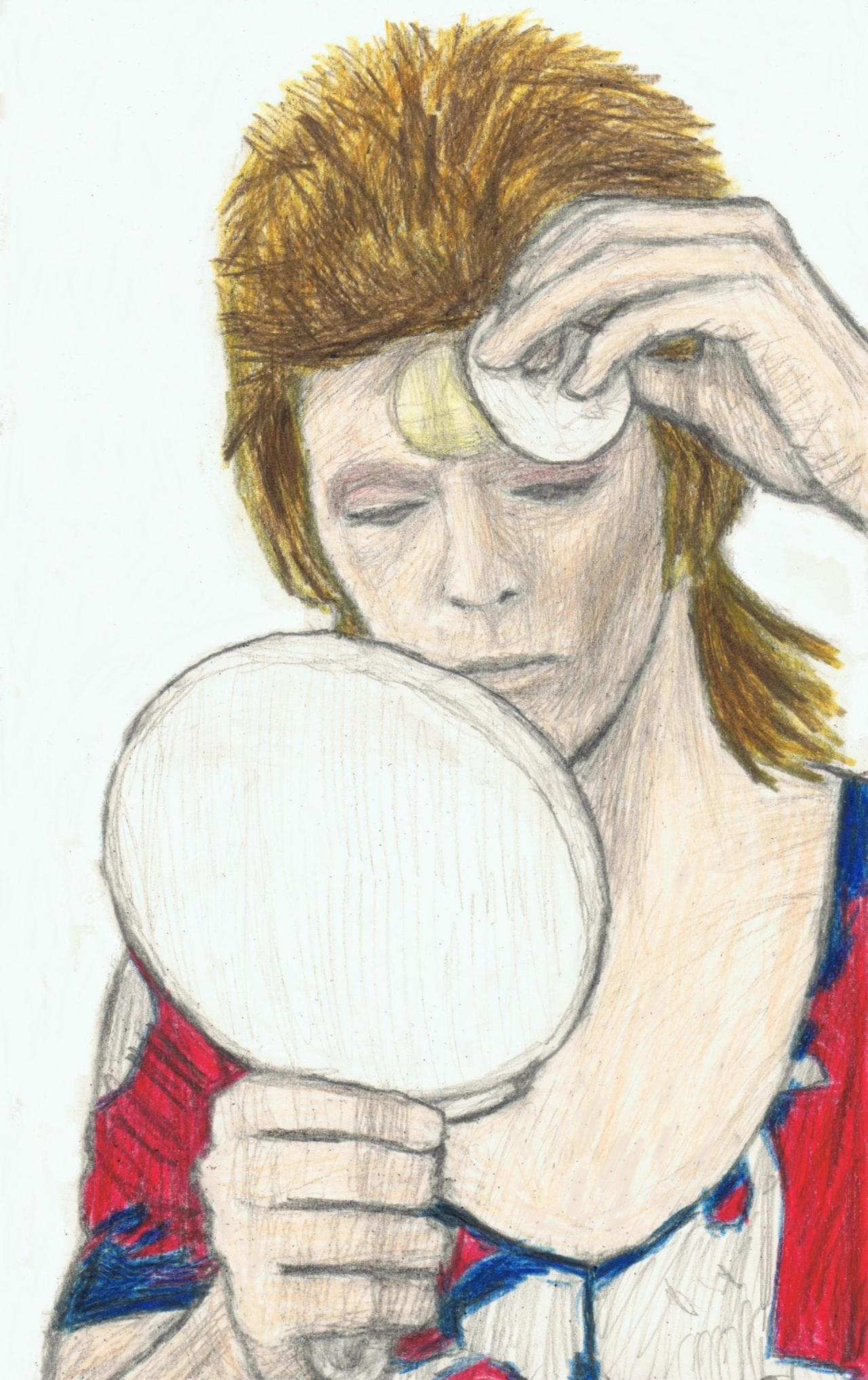 Ziggy Stardust removing his makeup by gagambo