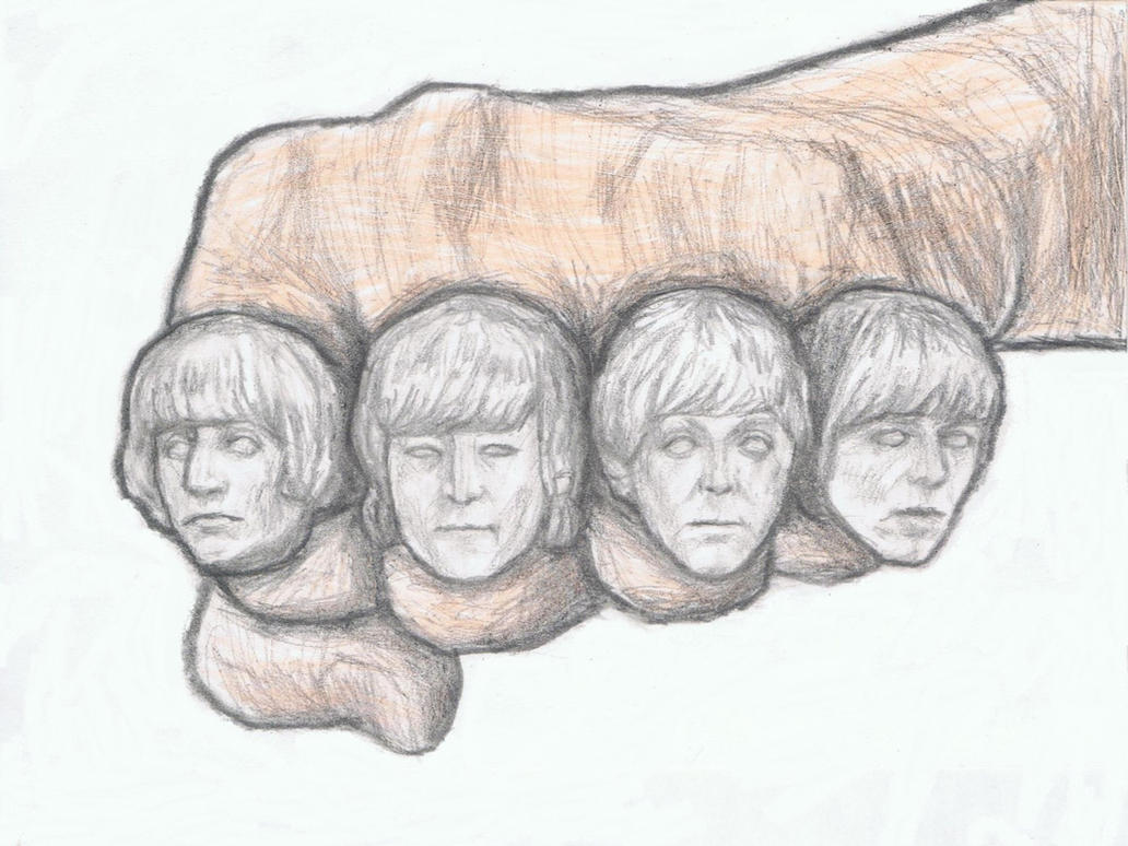The Beatles's heads as rings by gagambo