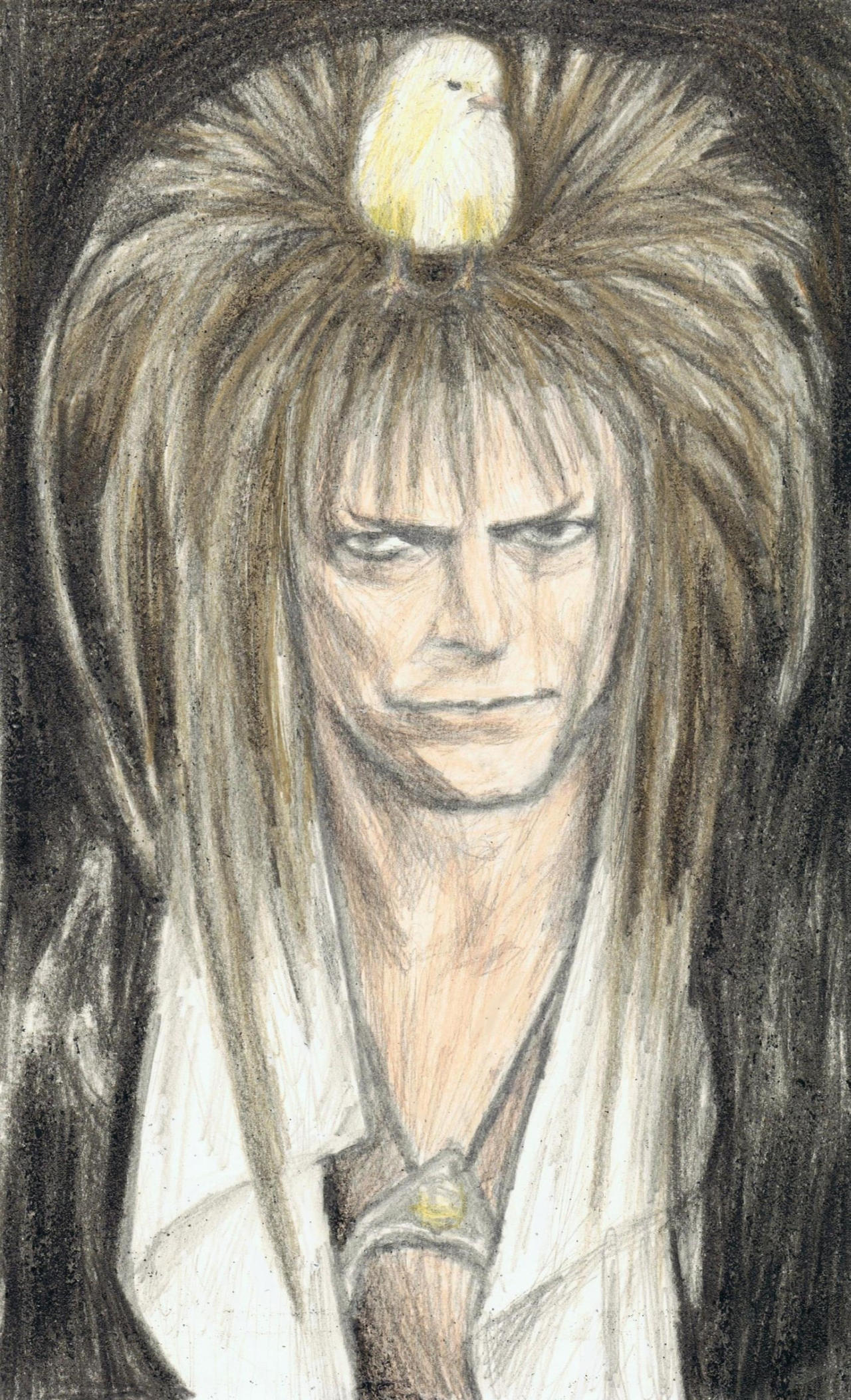 Goblin King with a chick on his head by gagambo