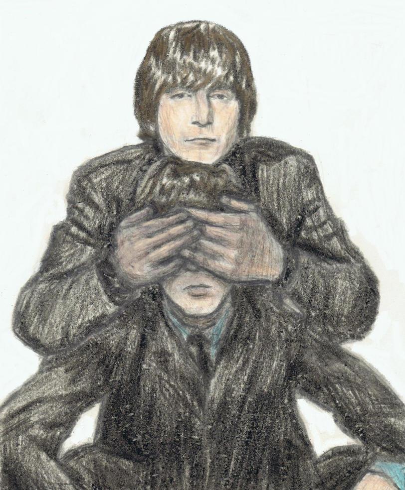 Lennon's hands over McCartney's eyes by gagambo